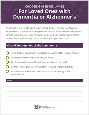 Alzheimers-Dementia-Assisted-Living-Checklist