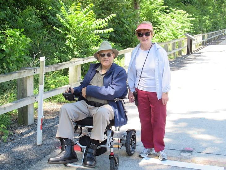 Green Ridge Village residents walking outdoors