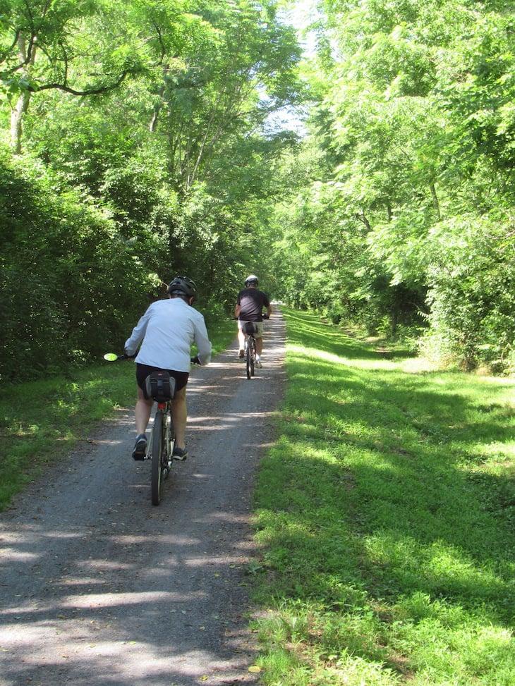 Green Ridge Village residents bike riding