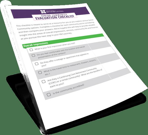 Community Evaluation Checklist