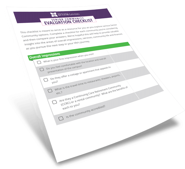 Senior Community Evaluation Checklist