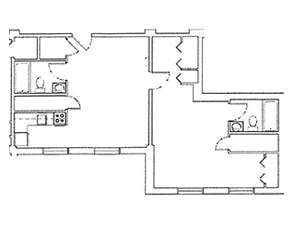 One Bedroom Large Floor Plan