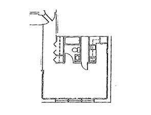 Efficiency Floor Plan | Geneva House in Scranton, PA
