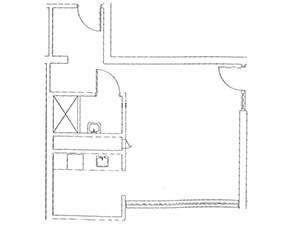 Studio Apartment Floorplan | Presbyterian Apartments in Harrisburg