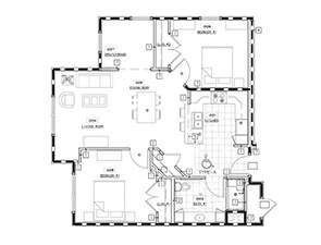 Two Bedroom One Bath Floor Plan   Westminster Place at Parkesburg