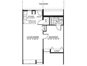 One-Bedroom Floor Plan