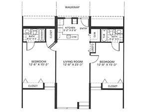 Two-Bedroom Floor Plan