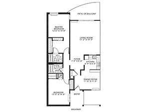Country Apartment Floor Plan