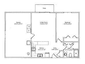 One Bedroom / One Bath | Green Ridge Village