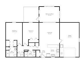 Two-Bedroom Deluxe | Green Ridge Village