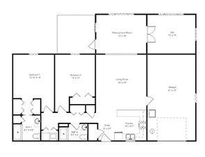 Two-Bedroom Deluxe Plus | Green Ridge Village