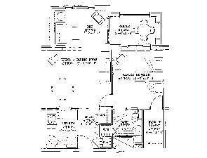 Residential Living Floor Plan: One Bedroom with Den