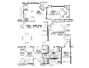 Residential Living Floor Plan: One Bedroom with Den
