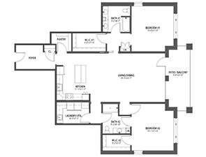 Residential Living Floor Plan: Angelica
