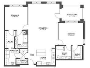 Residential Living Floor Plan: Bayberry