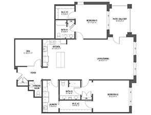 Residential Living Floor Plan: Cardinal