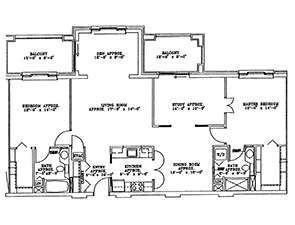 Residential Living Floor Plan: Customized