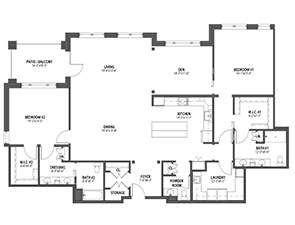 Residential Living Floor Plan: Dalia