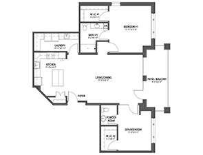 Residential Living Floor Plan: Evergreen