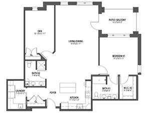 Residential Living Floor Plan: Hummingbird