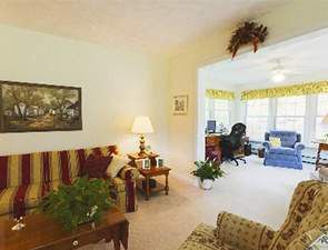 Woods Lane Villa Living Room | Westminster Woods at Huntingdon