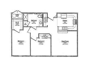 Two-Bedroom Apartment Floor Plan