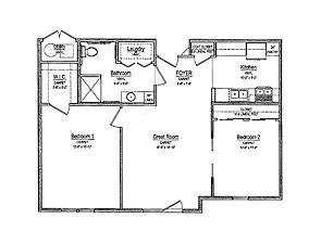 Affordable Senior Housing Floor Plan