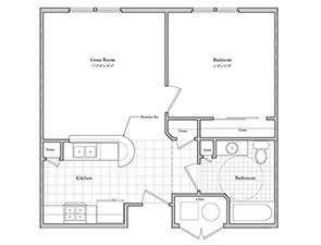 Schartner House 1A Floor Plan