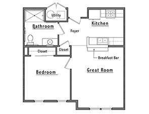 Schartner House 1B Floor Plan