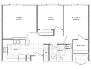 Schartner House 2A Floor Plan