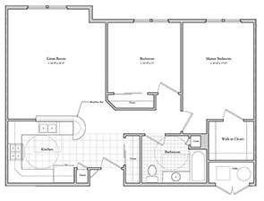 Schartner House 2B Floor Plan