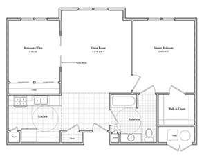 Schartner House 2C Floor Plan
