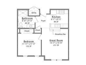 Westminster Place Floor Plan 1A