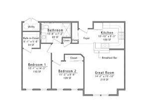 Westminster Place Floor Plan 2A