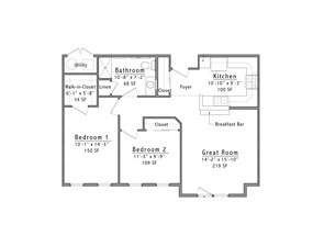 Westminster Place Floor Plan 2B