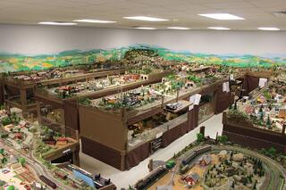 Green Ridge Village model train layout