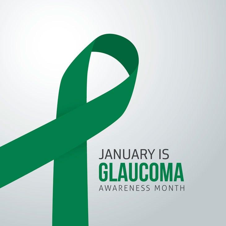 Glaucoma Awareness Month Ribbon