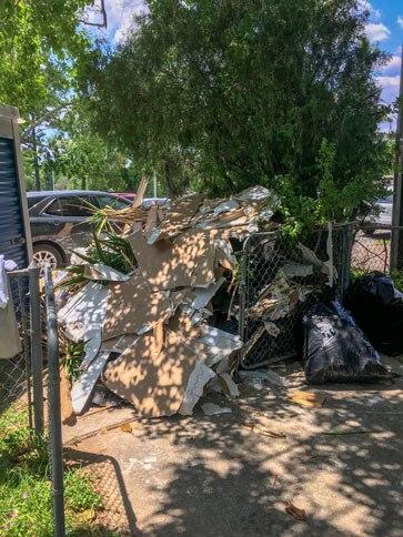 Hurricane Harvey Pile of Debris