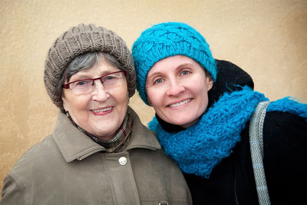 aging loved one for winter