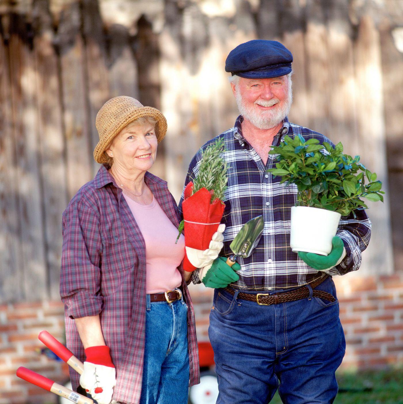 seniors gardening