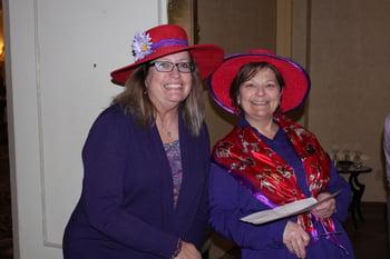 red hats at Presbyterian Senior living