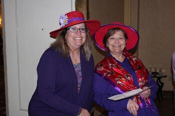 red hats at Presbyterian Senior living