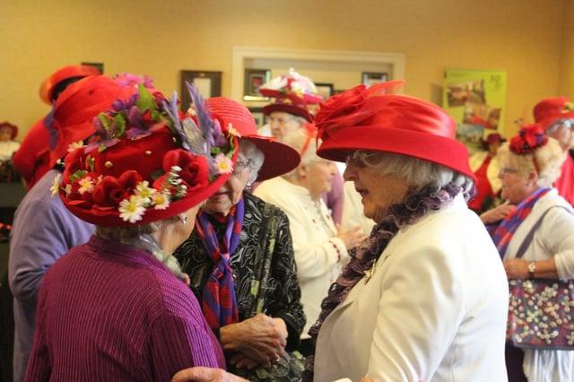 red hat society at presbyterian senior living