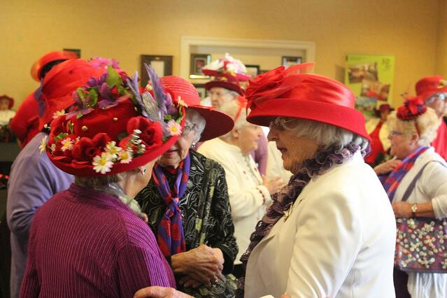 red hat society at presbyterian senior living