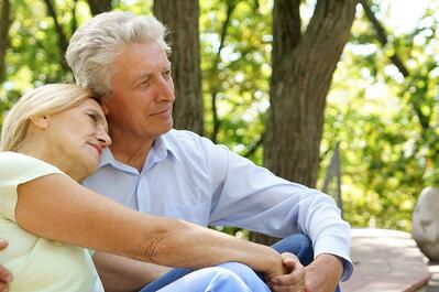 Evaluating Senior Living Communities | Couple Sitting Together