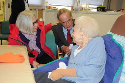 senator carver visits westminster village in dover