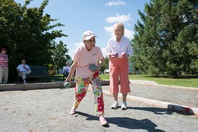 Lifelong Fitness   Senior Playing Bocce