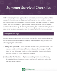 Summer Survival Checklist