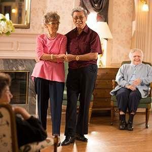 Elderly Couple Dancing | Residential Living at St. Andrew's Village