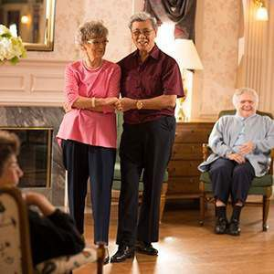 Elderly Couple Dancing   Residential Living at St. Andrew's Village
